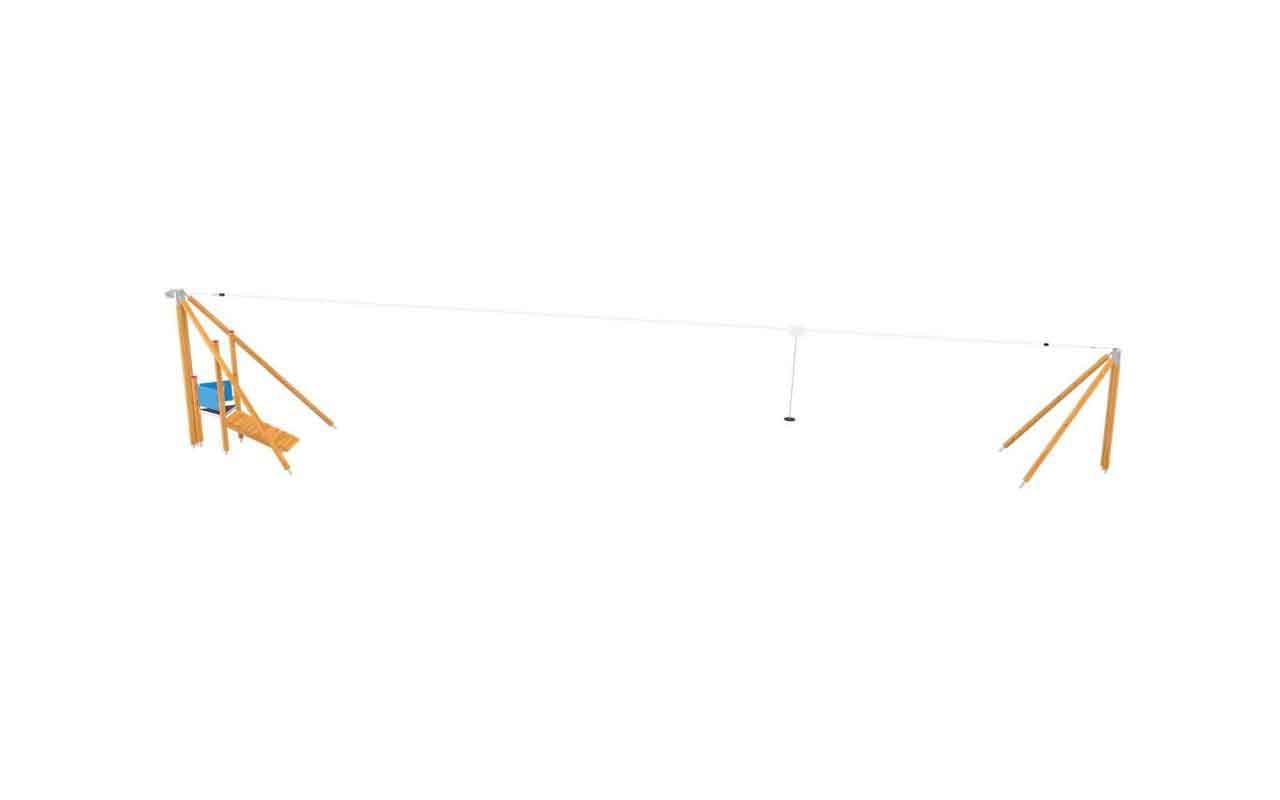 ZIP LINE LEGNO - ZIP LINE LEGNO - OUTDOOR FITNESS