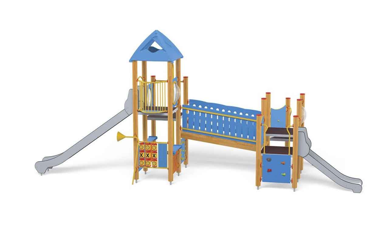 BLUE TOWER - BLUE TOWER - PARCO GIOCHI LEGNO