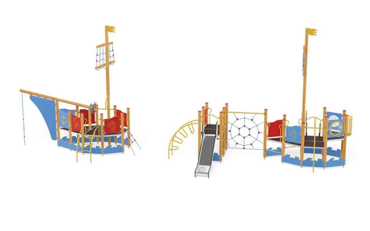 SHIP SET - SHIP SET - PARCO GIOCHI LEGNO