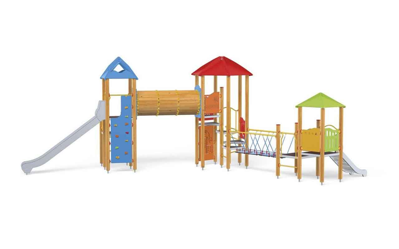 TOWER SET - TOWER SET - PARCO GIOCHI LEGNO