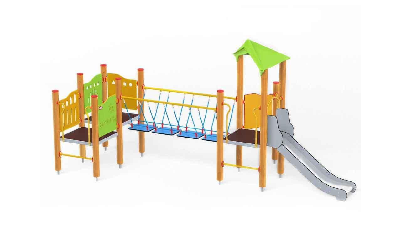 MOBILE BRIDGE - MOBILE BRIDGE - PARCO GIOCHI LEGNO
